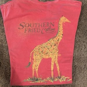 Tops - Southern fried cotton pocket logo tee